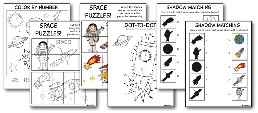 solar system printables and lesson pack for preschoolers my preschool plan. Black Bedroom Furniture Sets. Home Design Ideas