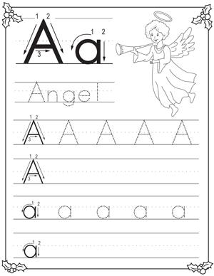 christmas alphabet letter tracing pack for preschoolers my preschool plan. Black Bedroom Furniture Sets. Home Design Ideas