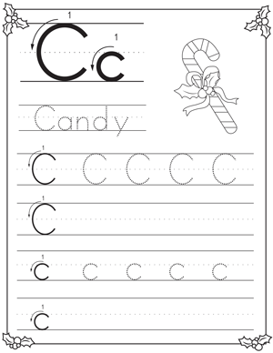 Christmas Alphabet Letter Tracing Pack For Preschoolers My Preschool Plan