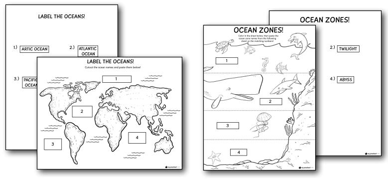 ocean printables and lesson pack for preschoolers my preschool plan. Black Bedroom Furniture Sets. Home Design Ideas