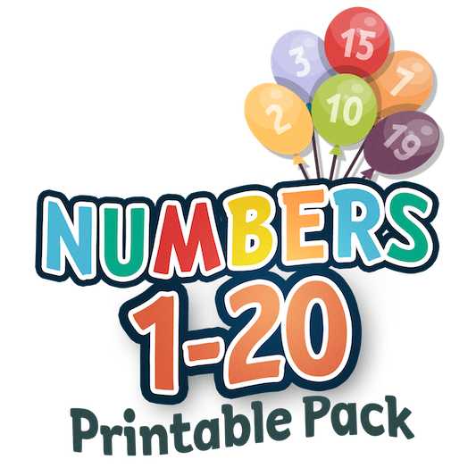 image about Numbers 1 20 Printable called Figures 1-20 Printable Pack My Preschool Program