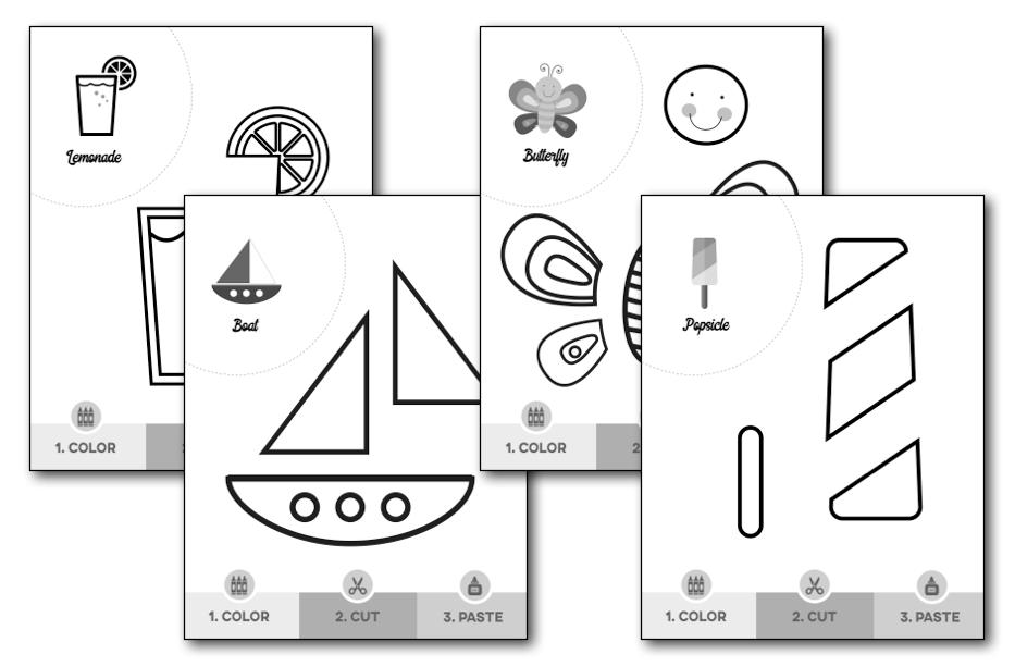 summer scissor skills worksheets  u2014 my preschool plan