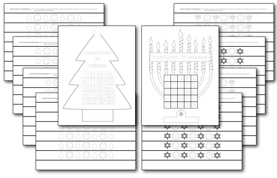 Printable Holiday Countdown Calendar My Preschool Plan