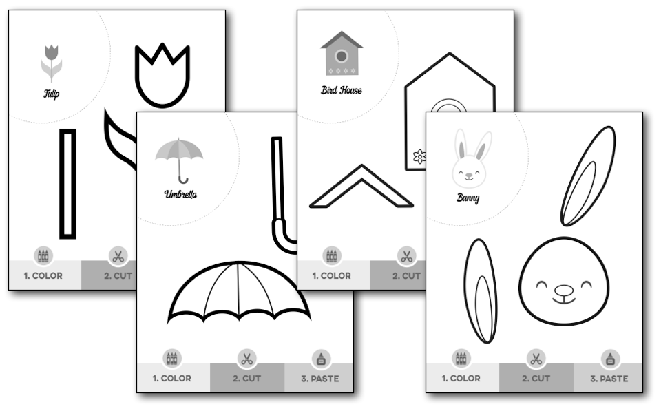 spring scissor skills worksheets  u2014 my preschool plan
