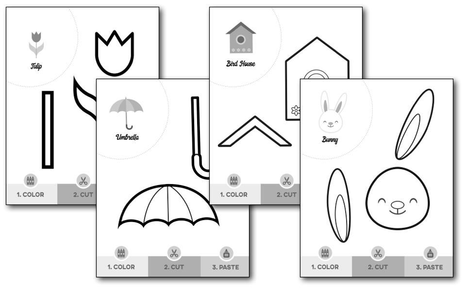 spring scissor skills worksheets  u2014 my preschool plan