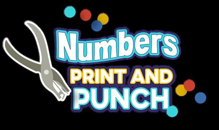 Numbers Print and Punch Worksheets — My Preschool Plan